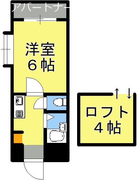 アップルハウス慶京 201号室 間取り