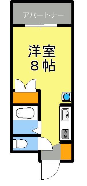 木崎パレス5 402号室 間取り
