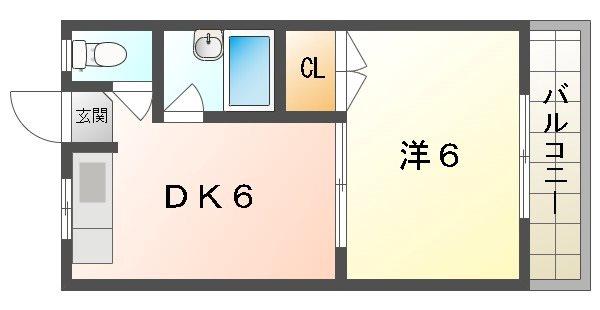 喜田ハイツ 間取り図