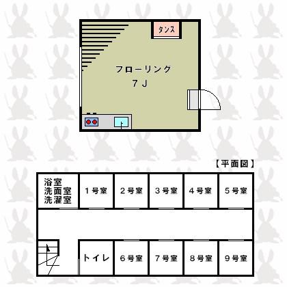 ステューディオ桜台 9:00~21:00演奏可 202号室 間取り
