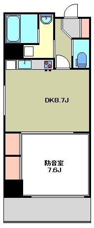 ハル~haru~ 8:00~23:00演奏可 間取り