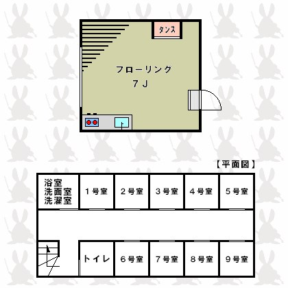 ステューディオ桜台 9:00~21:00演奏可 間取り