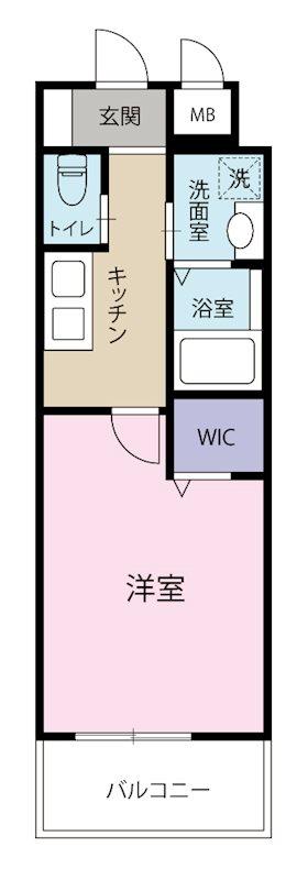 ZEGUNA 205号室 間取り
