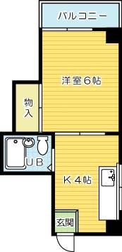 原ビル 405号室 間取り