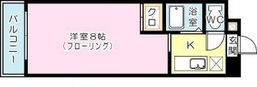 ラグゼ井堀 402号室 間取り