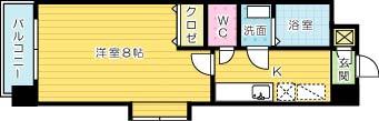 HAMIEL KOKURA 702号室 間取り