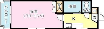 シャトレ井堀 402号室 間取り