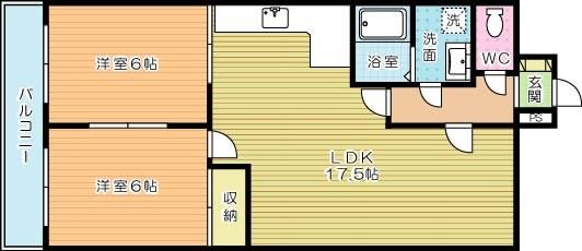 フォーサイトフォワイエ片野R 405号室 間取り
