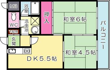 プレアール金田 702号室 間取り