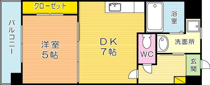 ウィングスミュゼ 703号室 間取り