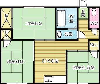 松股アパート  201号室 間取り
