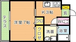 【学生★必見】ソレアード大浦 間取り
