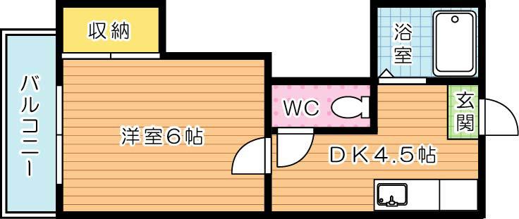 【学生★必見】ハイツクリスタル 間取り