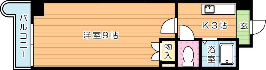 【学生★必見】KMマンション八幡駅前Ⅰ・Ⅱ 間取り