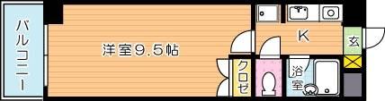 【学生★必見】KMマンション八幡駅前Ⅲ 間取り