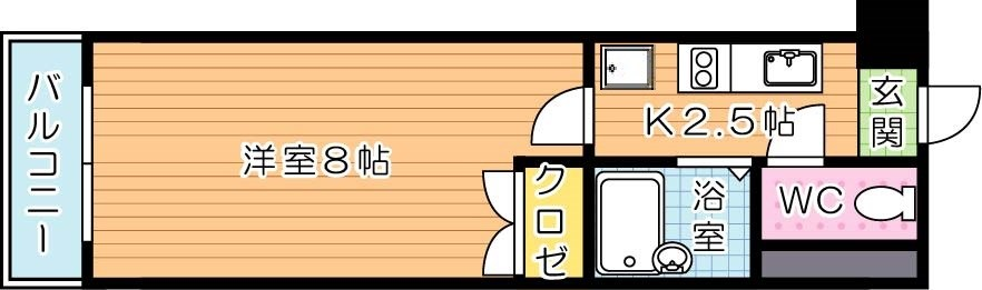 【学生★必見】アリビオ八幡 間取り