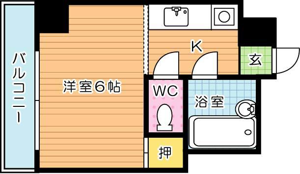 【学生★必見】フォーレスト西折尾 間取り図