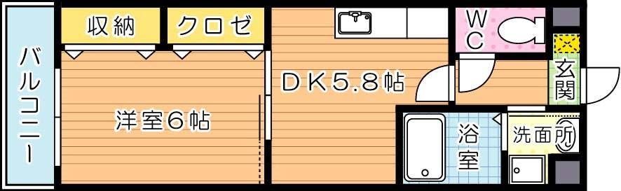 【学生★必見】フォレストビュー 間取り