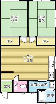 コーポ野田  202号室 間取り