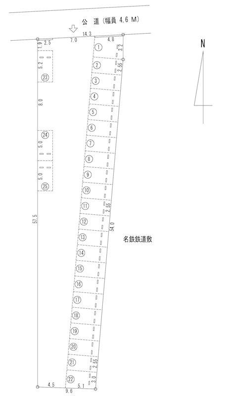 川西駐車場(N036) 間取り