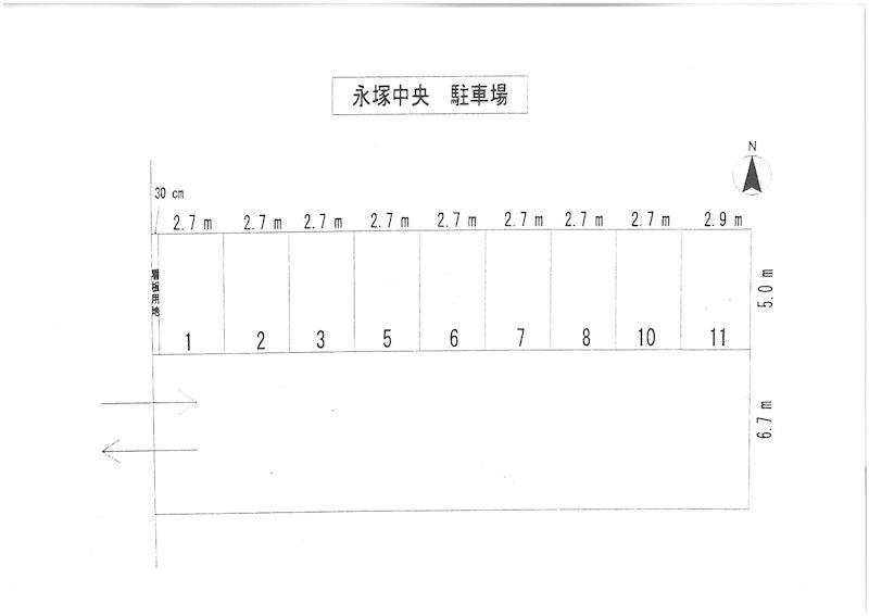 永塚中央駐車場(S370)      駐車場