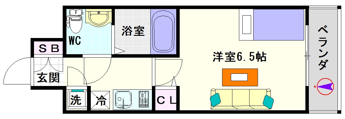 レジュールアッシュ難波MINAMI-Ⅲ 間取り