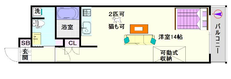 南堀江アパートメント シエロ 間取り