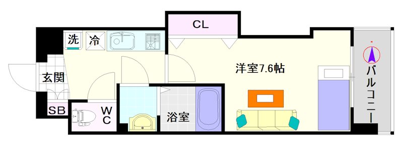 Luxe難波西Ⅱ 間取り