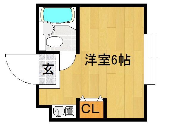 KYOTO STUDENT HOUSE(京都スチューデントハウス) 107号室 間取り