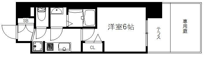 プレサンスTHE KYOTO彩美 間取り図