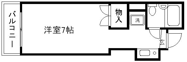 ピュアネスハタナカ 203号室 間取り