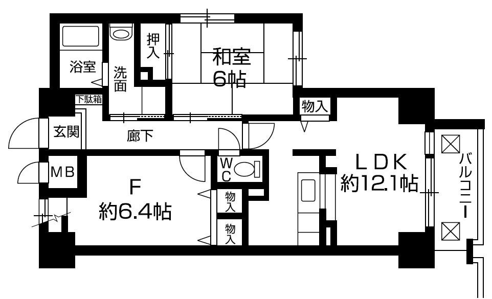 ロザーンジュ堀川 305号室 間取り