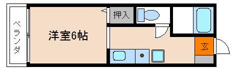 衣笠ハイツ 204号室 間取り