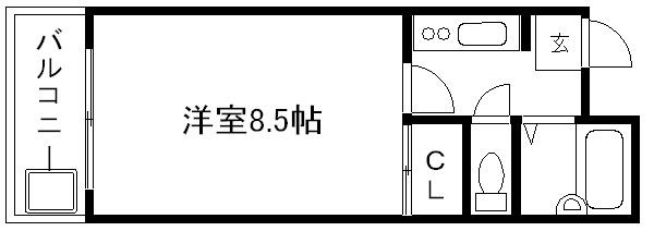 コスモハイツ新町Ⅱ 間取り図