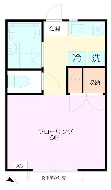 タウンハウス武蔵野B 間取り