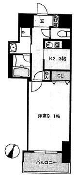 中央町新築マンション B・Cタイプ号室 間取り
