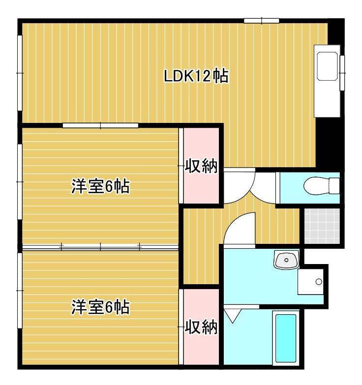 メゾン筑紫 4-D号室 間取り