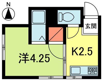 登喜和荘 2-6号室 間取り