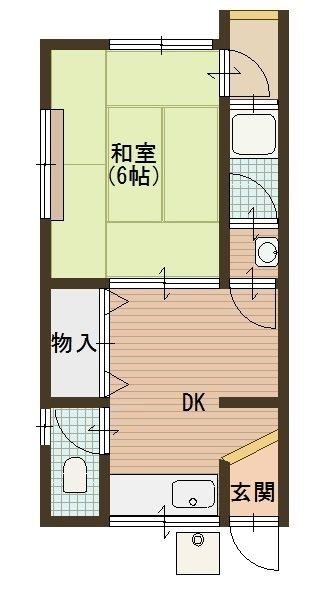 大和アパート 10号室 間取り