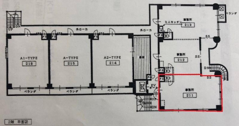 貸店舗・事務所 八尾市 桜ヶ丘3丁目 リバティ桜ケ丘Ⅱ号館 間取り