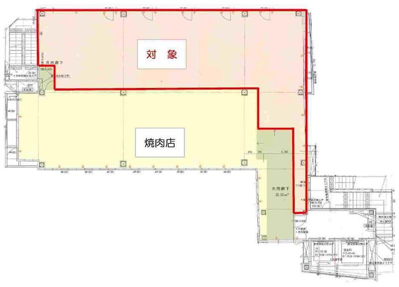 貸店舗・事務所 東大阪市 長堂2丁目 FUSE FUKU BLD. 間取り図