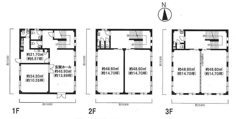 貸店舗・事務所 八尾市 天王寺屋7丁目 志紀駅前テナント 間取り図