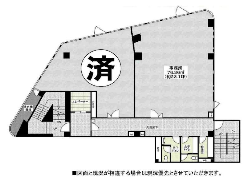 貸店舗・事務所 八尾市 本町1丁目 Y.L.B.タニムラ 間取り
