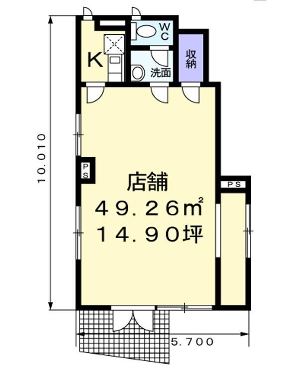 貸店舗・事務所 八尾市 山本町1丁目 メゾンエストM 間取り