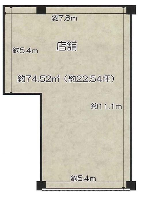貸店舗・事務所 八尾市 桜ケ丘1丁目 ベルドミール桜ケ丘 間取り
