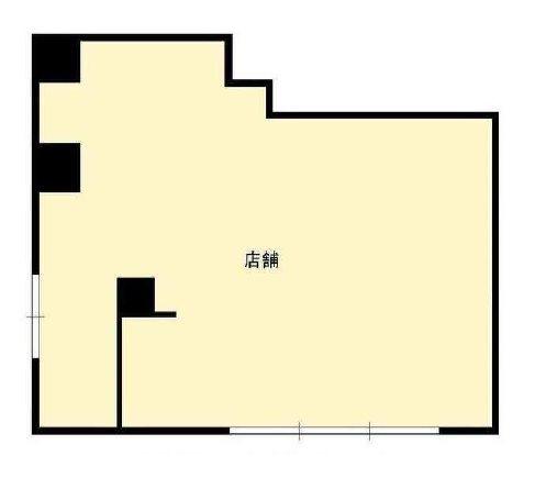 貸店舗・事務所 八尾市 本町7丁目 ワンフロア貸し 間取り