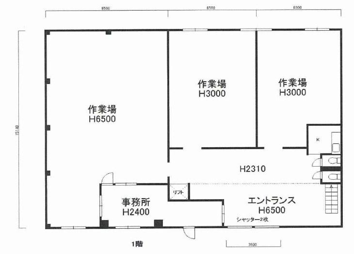 貸工場・倉庫 大阪市 平野区 長吉出戸5丁目 間取り