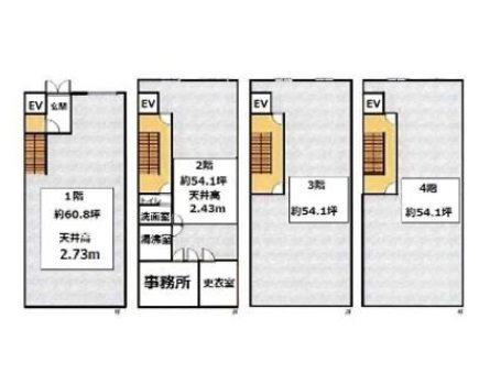 貸店舗・事務所 東大阪市 荒本新町 一棟貸 間取り