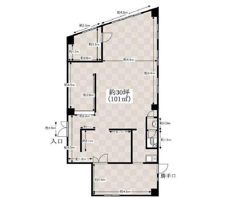 貸店舗・事務所 大阪市 生野区 第二タナックマンション 間取り