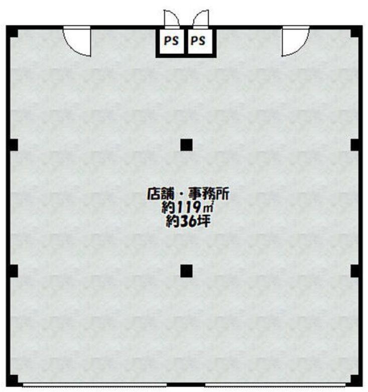 貸店舗・事務所 大阪市 平野区 長吉長原東1丁目 メゾンカタケ 間取り